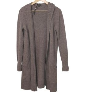 Repeat Cashmere Hooded Duster Cardigan